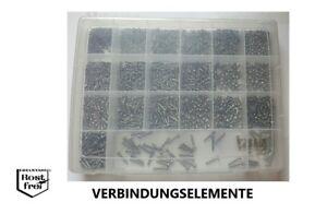 Blechschrauben Sortiment 1.500 Teile DIN 7981 mit Linsenkopf A2 Ø 2,2-3,9