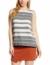 New Look Women's Striped Vest Top, Strappy, Cami Tops & Shirts