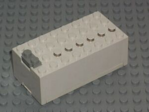 LEGO Batterie Kasten 4762 weiß 9 Volt 9V Battery Box  Police Space Light & Sound