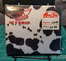 AEROSMITH GET A GRIP CD LIMITED EDITION FAUX COW HIDE CASE SEALED NOS