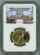 2013 D NGC MS67PL, MAC DMPL PQ $1 26TH PRESIDENT ROOSEVELT PROOFLIKE DOLLAR +++