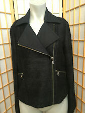 Marc By Marc Jacobs Black Mohair Wool Side Zipper Jacket Pea Coat Womens Size S