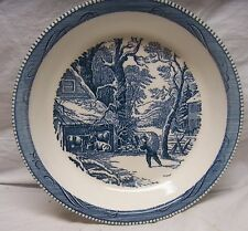 """VINTAGE ROYAL CHINA CURRIER & IVES """"WINTER MORNING"""" FARM SCENE 10"""" PIE PLATE"""