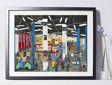 Grand Central Station NYC Art Reproduction  Pat Singer's New York - Home Decor