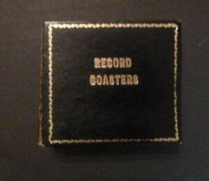Vintage Record Album Case and 8 Vinyl Coasters