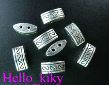 70 Tibetan silver 2 holes carved spacer beads 10mm A33