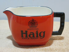 Haig Scotch Whisky Vintage Barware Pitcher Advertising Bar Made in England Queen