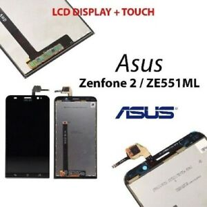 LCD ASUS ZENFONE 2 ZE551ML NERO DISPLAY VETRO SCHERMO TOUCH SCREEN Z00AD NUOVO