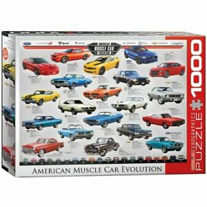 Eurographics 1000 Piece Jigsaw Puzzle - Muscle Car Evolution 	 EG60000682