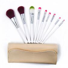 9pcs Makeup Brush Tools Eyebrow Face Lip Pencil Cosmetic Brush Kit & Travel Bag