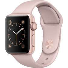 APPLE WATCH SERIES 1 38MM ROSE GOLD ALUMINUM CASE PINK SAND SPORT BAND
