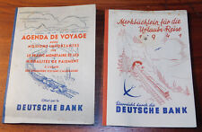 2 DEUTSCHE BANK agenda de voyage 1939 WW2 trafic monetaire mark ALLEMAGNE FRANCE