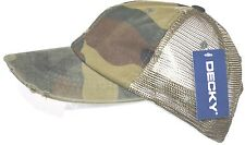 DECKY Vintage Mesh Caps Baseball Cap Hat-military camo