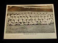 Original 1956 Baltimore Orioles B&W 11x14 Team Issued Premium Photo Postcard-EX