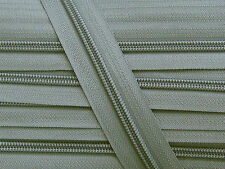 ZN05A-H8 20yards #5 GREY (578) Nylon coil continuous zipper Nylon zip chain tape