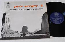 PETE SEEGER:LP D'AMÉRIQUE BALLADES-CHANT DU MONDE EX COND