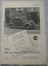 1948 Vauxhall Original advert