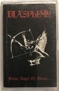 Blasphemy – Fallen Angel Of Doom.... Cassette 1990 Wild Rags Records – WRR019