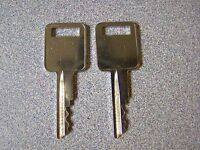 Truck topper T-Handle replacement keys by code K125-K183 odd numbers