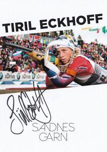 Tiril Eckhoff: Olympiasiegerin+Weltmeisterin Biathlon NOR