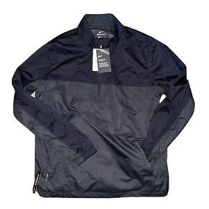 Nike Shield 1/4 Zip Mens Black Pullover Windbreaker Golf Activeware Jacket MED