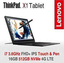 ThinkPad X1 Tablet i7 3.6GHz FHD+ 16GB 512GB NVMe 4G LTE 2Y ADP Warranty