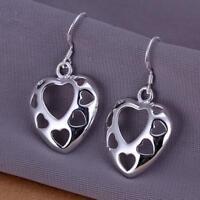 ASAMO Damen Ohrhänger Herz 925 Sterling Silber plattiert Ohrringe O1232