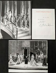 """1981 Katharine Hepburn """"Coco"""" Photos & Autograph Signed Letter - Theatre World"""