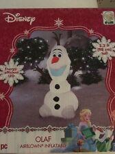 Inflatable Olaf Christmas Yard Decor Air Blown Gemmy Disnep LED