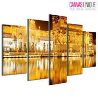 PC411 Tirupati Golden Temple  Scenic Multi Frame Canvas Wall Art Print