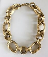 Vintage 1980's Signed GIVENCHY Chunky Textured Runway Haute Couture Necklace