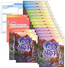 Grade 6 Go Math Homeschool Kit Teacher Editions 2015 6th Curriculum Package