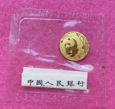 2002 china panda gold 20 yuan 1/20 oz coin-mint sealed