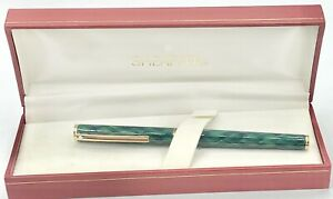Vintage Mint Sheaffer Green Pattern Ballpoint Pen