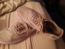 Vans Men Tennis Shoes Size 5.5 ladies 6 Beige Color Lace Up colors threaded used