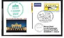 GANZSACHE ATM RYANAIR ERSTFLUG BERLIN - SHANNON IRLAND BRANDENBURGER TOR 2008