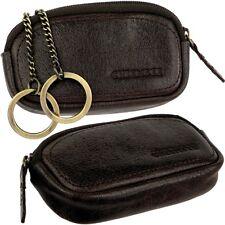 Chiemsee étui de clés Marron foncé sacoche à clés cuir clé portefeuille trousse