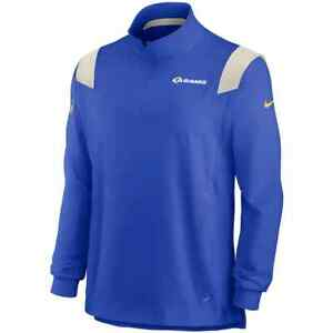 New 2021 NFL Los Angeles Rams Nike Sideline Coaches Repel Quarter-Zip Jacket NWT