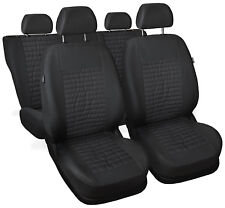 CAR SEAT COVERS full set fit Seat Toledo - leatherette Eco leather grey