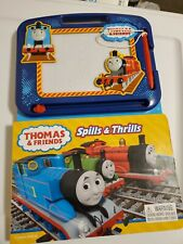 NEW Thomas & Friends Spills & Thrills 22 Page Storybook + Magnetic Drawing Kit