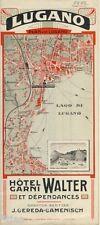 Lugano hôtel... walter Cereda Camenisch suisse suisse prospectus de 1913