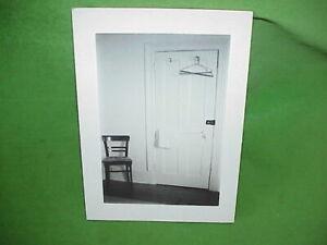 "1972 Art Photo 6""x9"" Black & White Mounted Photograph Bermuda House Door w/Chair"