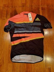 NWT Adidas Adistar Cycling Jersey Aeroready Zip Solar Red Shock Mens XL