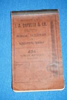 RARE 1907 Antique COLLEGE Medical Student Med school Courses Notes Notebook