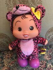"RARE MULTIBRINK TURMA DA MONICA BRAZIL pink leopard standing DOLL 9"""