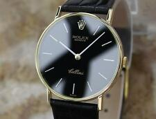 Rolex 1972 Cellini 18k Solid Gold 31mm Swiss Made Mens Luxury Dress Watch BB13