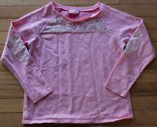 Girls size 14 pink long sleeve shirt CUTE!!