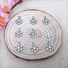 Wholesale 24//50Pcs Silver Plated//Gold Plated(Lead-Free)Snowflake Charms 24x18mm