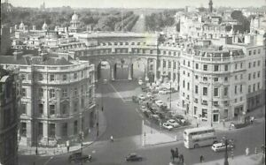 John Hinde Photo Postcard Admiralty Arch London Buses Old Cars