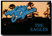 HOTEL CALIFORNIA THE EAGLES METAL SIGN, CLASSIC, MUSIC , WALL SIGN, POSTER